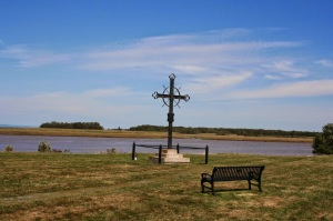 Acadian exile memorial, Grand Pré, NS, Gaspereau River